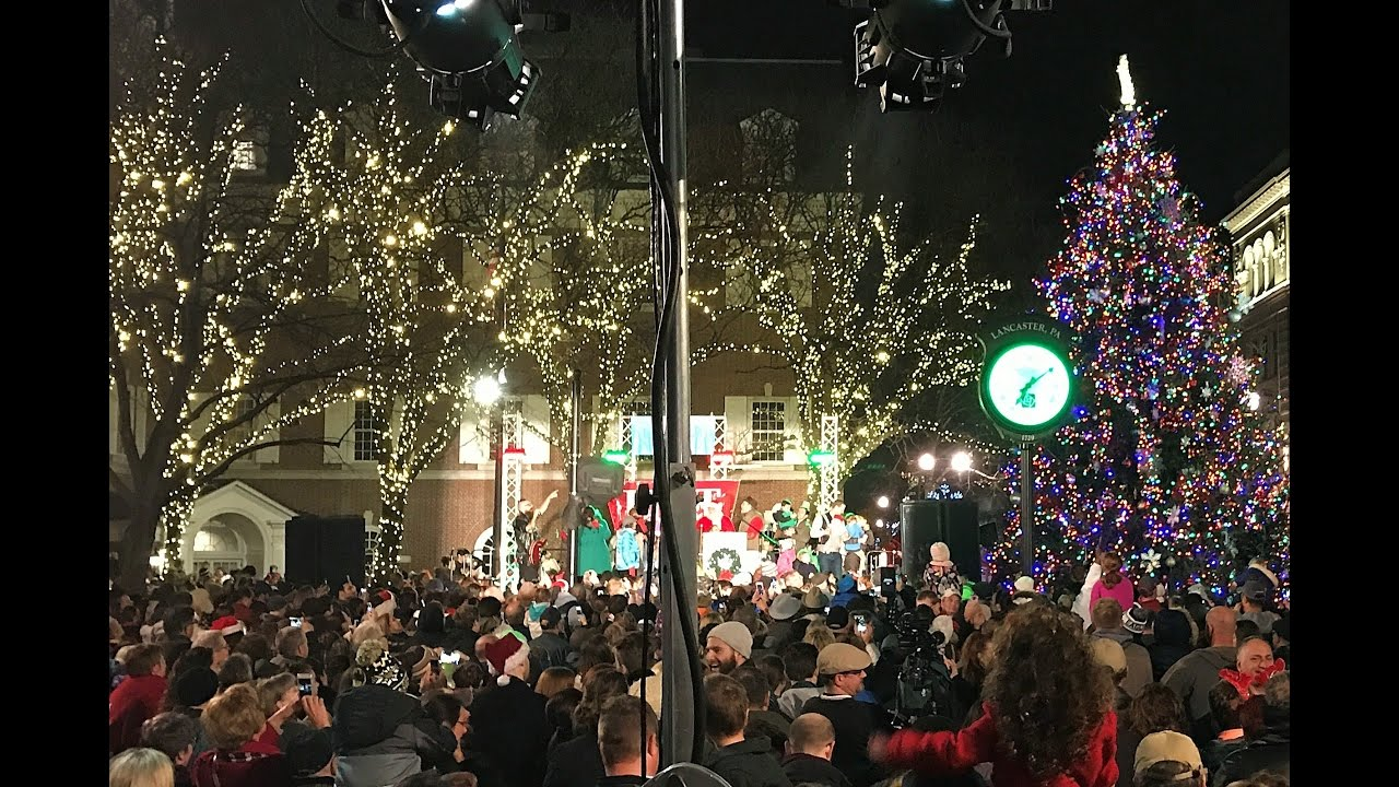 lancaster city christmas tree lighting 2016