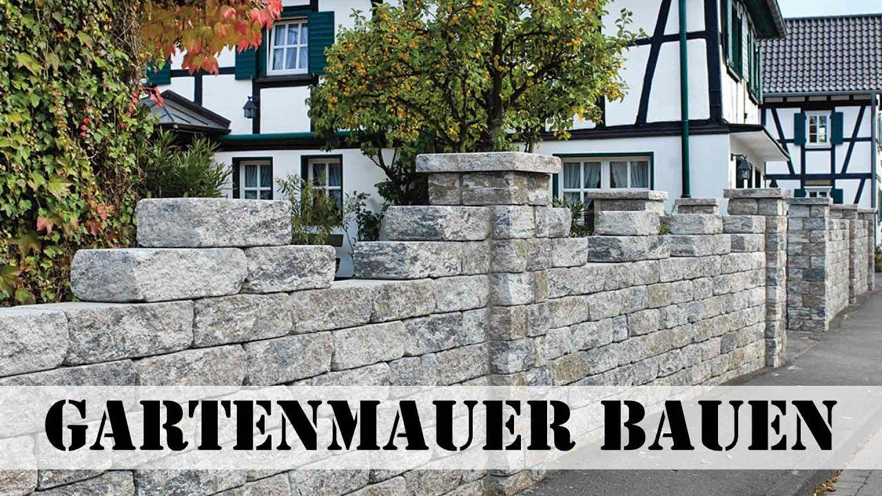 gartenmauer bauen - youtube