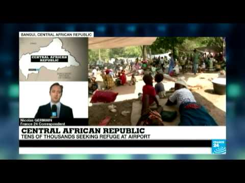 Central African Republic : heavy arms fire triggers panic in capital Bangui