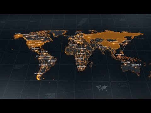 World map after effects template youtube world map after effects template sciox Images