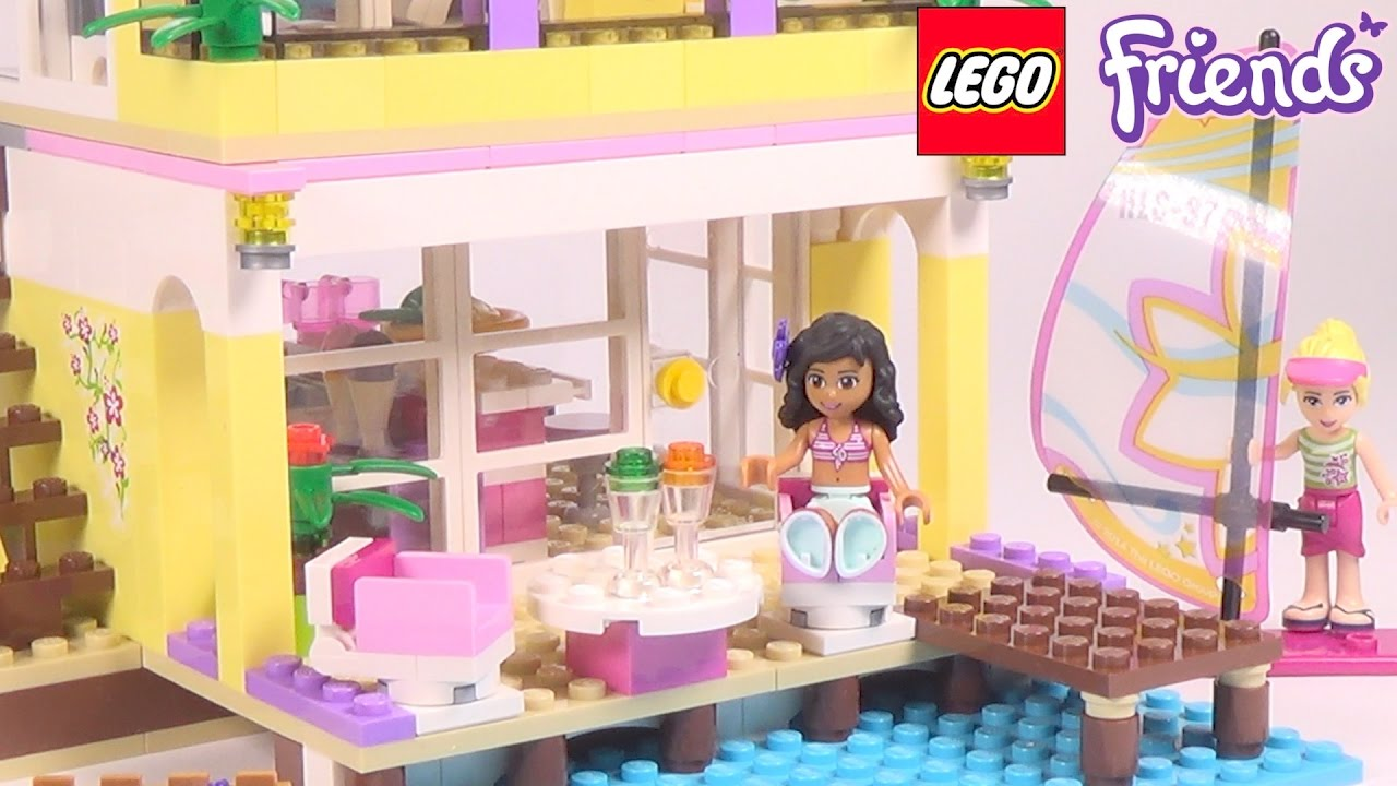 Lego Friends Stephanies Beach House Playset 41037 Toy Unboxing