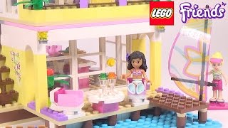 LEGO Friends Stephanie's Beach House - Playset 41037 Toy Unboxing & Speed Build