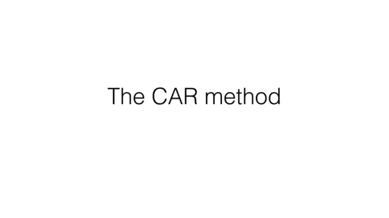 the car methodology the car methodology