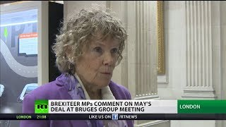 Brexiteer MPs comment on May's #BrexitDeal at Bruges Group meeting