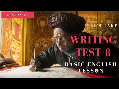 Basic English Lesson 44 Writing Practice Test 8 영어 작문 시험