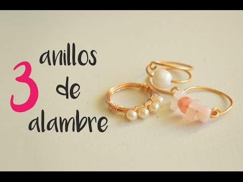 b1ea03291cf9 Como hacer tres anillos con alambre /How to make three rings with wire  (english subtitles) #9