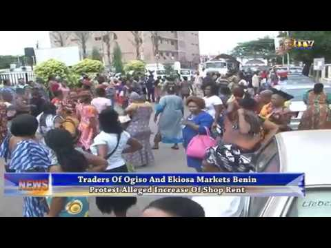 Traders in  Benin protest alleged increase of shop rent