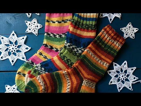 Подарки из Сундучка // Мои носки спицами из Nako и Alize // Вязание в Краснодаре