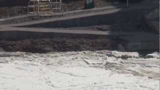 Last day of Niagara River Ice Bridge (Apr.6, 2013)