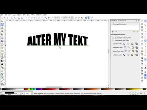 Warping Text and using Path Effects Editor - Inkscape Classroom
