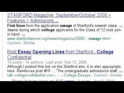 college confidential stanford essays