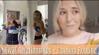 MY NEWS! My relationship, BIRTHDAY SURPRISES + fake tan routine + new high street clothes haul!