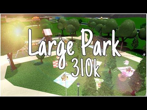 Bloxburg Large Park 310k Youtube