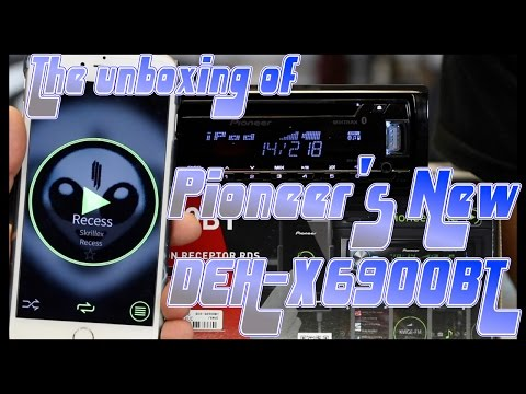 The unboxing of Pioneer's new DEH X6900BT