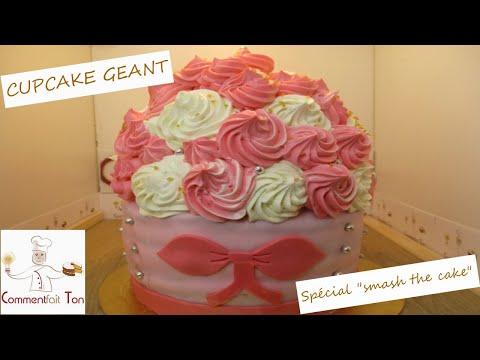 """comment-faire-un-cupcake-geant-spécial-""""smash-the-cake""""-par-commentfait-ton"""
