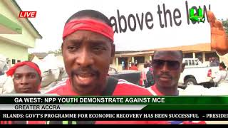 Ga West: NPP Youth Demonstrate Against MCE