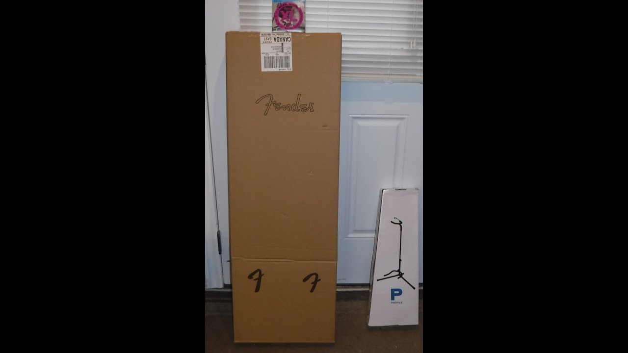 unboxing a new fender electric guitar plus extras youtube. Black Bedroom Furniture Sets. Home Design Ideas