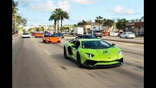 BullFest 2018 Lamborghini VS Lamborghini 100+ Lambos BLASTING from Lamborghini Miami