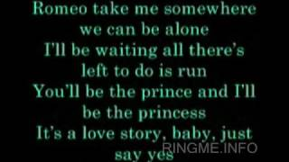 Taylor Swift - Love Story lyrics Karaoke ringtone