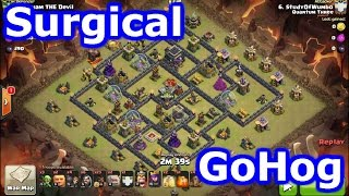 Clash Of Clans - Surgical GoHog Attack Strategy vs The Triton Base