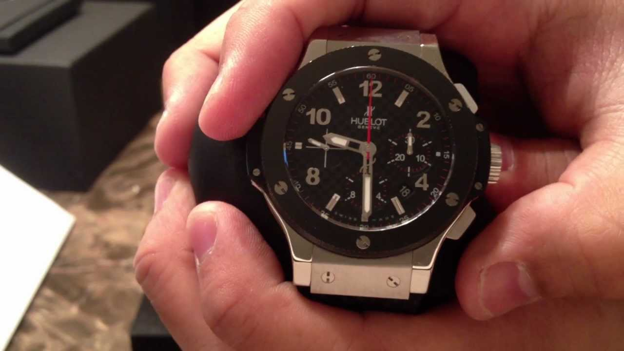 eb6b9d58b2e Hublot Big Bang Steel Ceramic Chronograph Watch Review Authentic ...