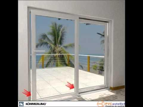 Pvcastellet ventana de pvc k mmerling corredera oscilo for Ventana corredera pvc