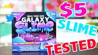 $5 DIY GALAXY SLIME KIT TESTED - Does it work ?