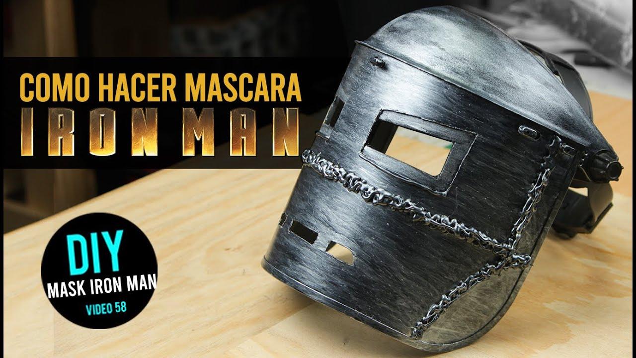 Como hacer la máscara de Iron Man Mark I