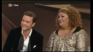 Justin Timberlake in talk, as Beatbox for Cindy in rap & tribute to Elvis Presley (live 2013)