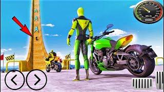 Superhero Bike Stunt GT Racing - Mega Ramp Games-Best Android Gameplay HD screenshot 4