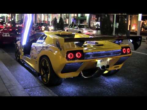Very Cool Lamborghinis Tokyo Car Club Christmas Ginza Japan 2453
