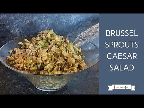 Low Carb Brussel Sprouts Caesar Salad