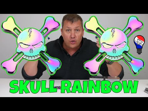 hand-fidget-spinner-skull-and-bone-rainbow-colorful-test-review-francais-thinkunboxing-4k