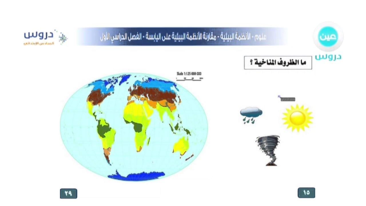 السادس الابتدائي الفصل الدراسي الاول علوم الانظمة البيئية مقارنة الانظمة البيئية على اليابسة Youtube