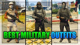 GTA 5 ONLINE - *NEW* BEST TOP 3 MILITARY OUTFITS IN GTA 5 1.43! GTA Online Best Military outfits!!!