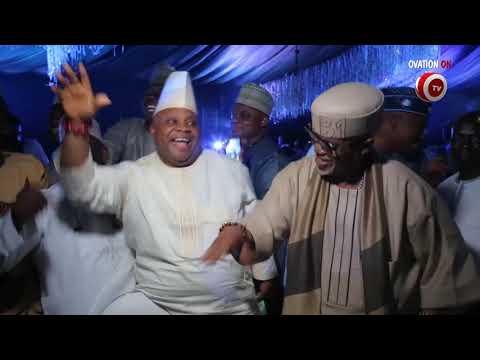 Senator Ademola Adeleke Dances at Fatima Aliko Dangote Wedding in Kano