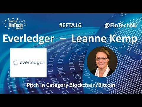Everledger Pitch By Leanne Kemp In Blockchain / Bitcoin Category At European FinTech Awards 2016