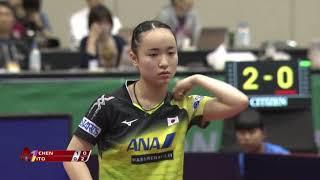 ジャパンOP 女子シングルス 準決勝 伊藤美誠vs陳幸同[フル]