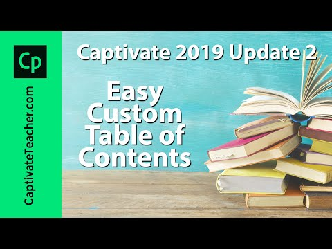Easy Custom Table of Contents (Branching) in Adobe Captivate 2019 Update 2