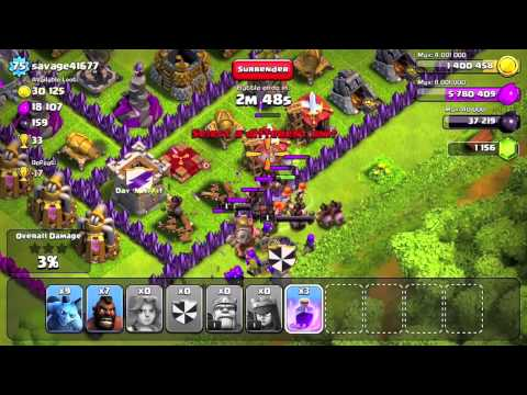 Clash of clans Dark troops attack