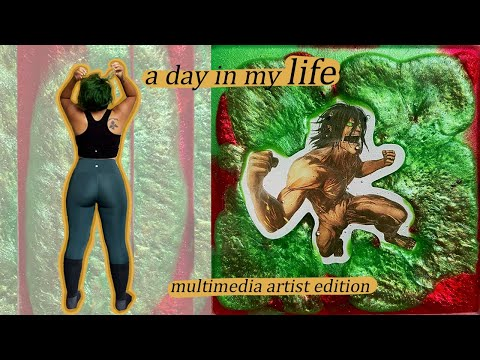 A Day in My Life || Plant-Based Spiritual Artist || Vegan Food, Glutes Workouts, Oil Painting, Resin