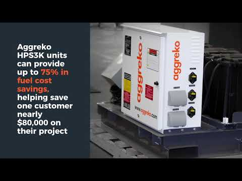 Aggreko hybrid power system   HPS3K