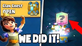 OMG! OPENING 7 CLAN CHEST! UNLOCKING LEGENDARY CARDS!! CLASH ROYALE CHEST OPENING