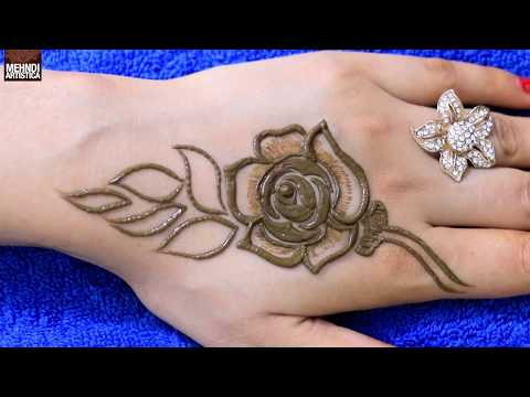 Best Rose Mehndi Design | Learn To Make Gulf Rose In A Very Stylish Way Of Henna Mehendi Design Art