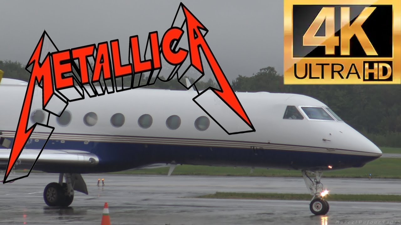 Metallica Airplane At The Quebec City Airport YQB  YouTube