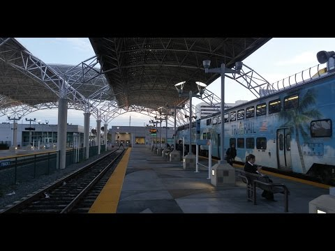 On Board Video Of Tri-Rail From Fort Lauderdale To Miami Airport + MIA Mover (2.8.16)
