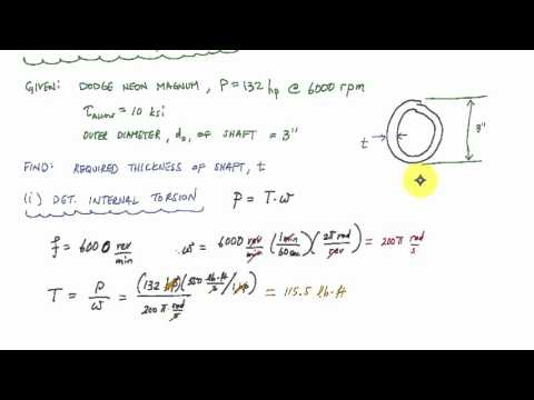 Power and Torsion Introduction (2/2) - Mechanics of Materials