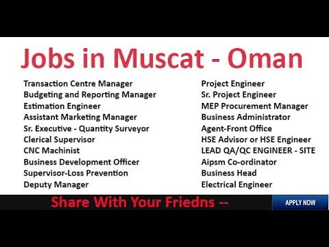 100% Free jobs in Oman 2019 // Salary 30,000-95,000 RS