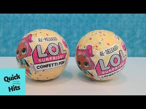 LOL Surprise Confetti Pop Series 3 ReRelease Opening | PSToyReviews