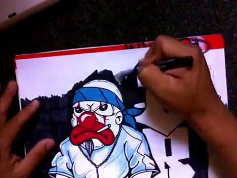 Drawing A Gangsta Clown (speed Drawing)  Sketch It First With Pencil